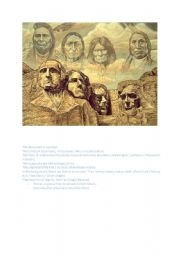 English Worksheet: Native Americans and Mount Rushmore