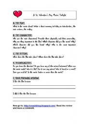 English Worksheets: Watching a movie
