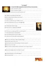 English Worksheets: I am Legend