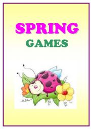 English Worksheet: SPRING GAMES - shape writing and associations