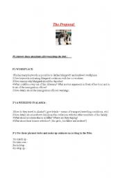 English Worksheets: Film : The proposal
