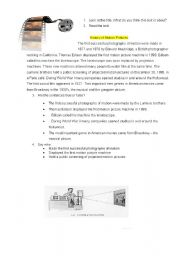 English Worksheets: motion pictures