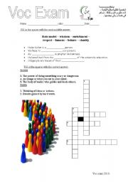 English Worksheets: voc exercises