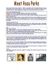 FACT FILE : Meet ROSA PARKS / Level A2+/B1