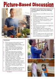 English Worksheet: Picture-Based Discussion (36): Housework