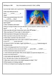 English Worksheet: Mini Video:Shift 2009 The importance of technology in Globalization