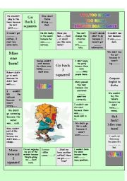 English Worksheets: Too much, too many, too, enough board game