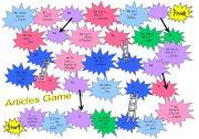 English Worksheet: Articles Game