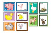 English Worksheet: Farm Animals Matching Game Part 1 of 2  (30 cards in the set)
