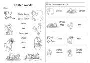 English Worksheet: Easter words