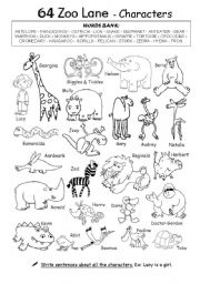 English Worksheets: 64 Zoo Lane 1