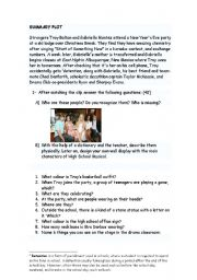 English Worksheet: HIGH SCHOOL MUSICAL 1 WORKSHOP (part 1 out of 8) Start of something new