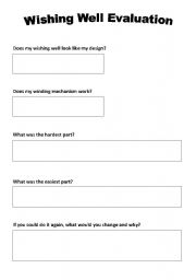 English Worksheets: Wishing well evaluation