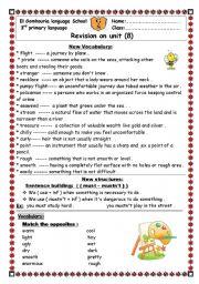 English Worksheets: revision sheets