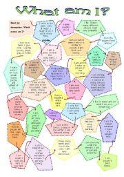 English Worksheets: Animals - What am I