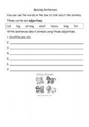 English Worksheets: Writing short sentences