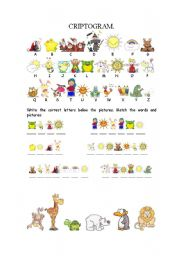 English Worksheets: Criptogram