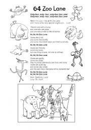 English Worksheets: 64 Zoo Lane 2