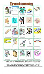 English Worksheet: Treatments