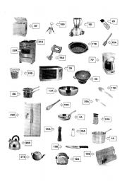 Kitchen Materials english teaching worksheets: in the kitchen