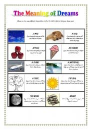 English worksheets: The Meaning of Dreams (Role-Play): WILL for ...