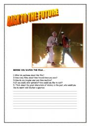 English Worksheets: BACK TO THE FUTURE