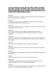 English Worksheet: Nuclear Holocaust