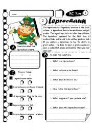 English Worksheets: RC Series Level 1_27 Leprechaun