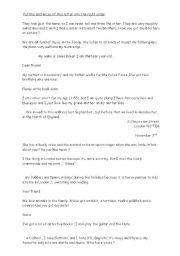 English Worksheet: a penpal letter in disorder