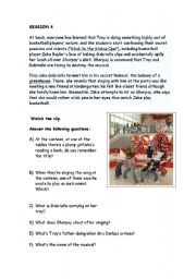 English Worksheet: HIGH SCHOOL MUSICAL 1 WORKSHOP (part 4 out of 8) Stick to the Status Quo