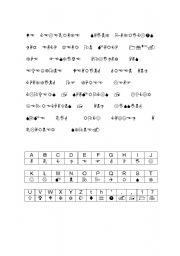 english worksheet decode the symbols. Black Bedroom Furniture Sets. Home Design Ideas