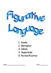 English Worksheet: Figurative Language: Simile, Metaphor, Idiom, Hyperbole, & Personification