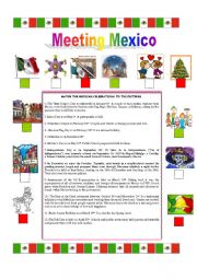 English Worksheet: TRADITIONS IN MEXICO