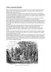 English Worksheets: Native American Indians