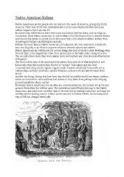 English Worksheet: Native American Indians