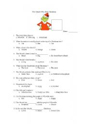 English Worksheet: Grinch Who Stole Christmas questionnaire