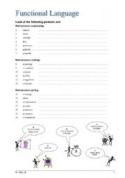 English Worksheets: Functional Language