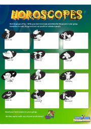 English Worksheet: Horoscopes (Making Predictions)