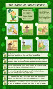 English Worksheet: The legend of Saint Patrick