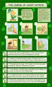 English Worksheet: The legend of Saint Patrick