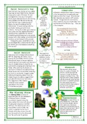 English Worksheet: St Patrick´s Day Reading