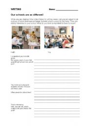 English Worksheets: Our schools are so different
