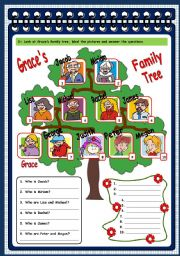 English Worksheets: Family - test (page 3)