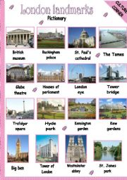 LONDON LANDMARKS - PICTIONARY