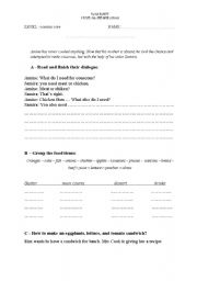 English Worksheets: how to prepare a dish