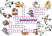 English Worksheet: HOROSCOPES PUZZLE + KEY