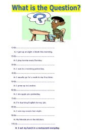 English Worksheets: What is the question