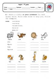 English worksheets: the animals worksheets, page 445