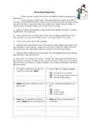 English worksheet: Snow Good Experience