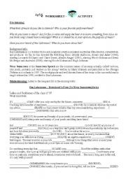 English Worksheet: Bazz Luhrman�s Everybody�s Free to Wear Sunscreen